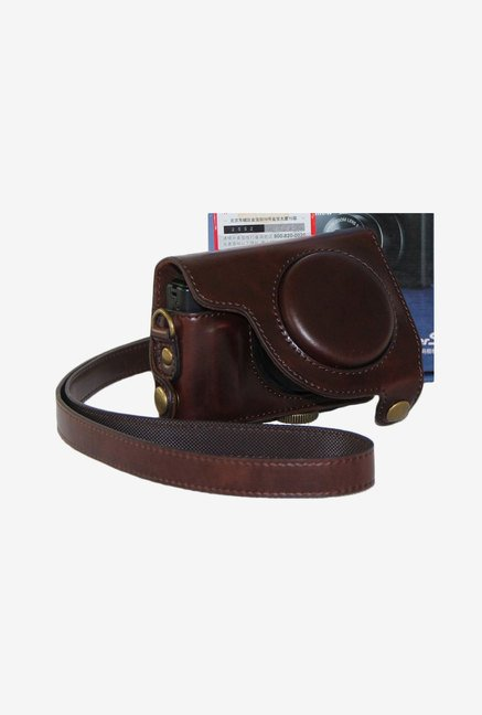 TechCare Leather Camera Case for Canon S120 (Brown)