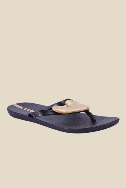 ddd527e33 Buy Ipanema Summer Love III Fem Black   Golden Flip Flops For ...