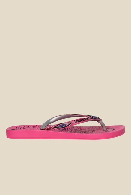 5a38db84dd2 Buy Ipanema Anat Lovely III Fem Pink & Silver Flip Flops For Women ...