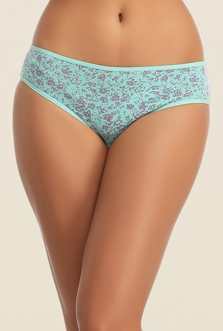 Clovia Blue & Black Printed Bikini Panty (Pack of 2)