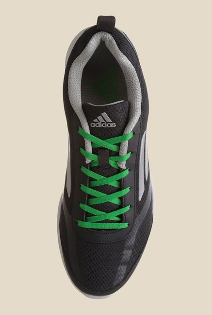 Adidas Adiray Black & Green Running Shoes