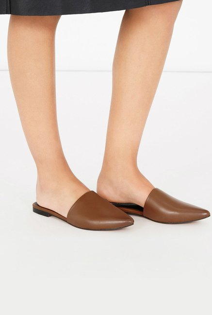 Warehouse Brown Mule Sandals