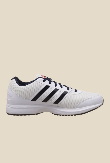 Adidas Ezar 2.0 White & Navy Running Shoes
