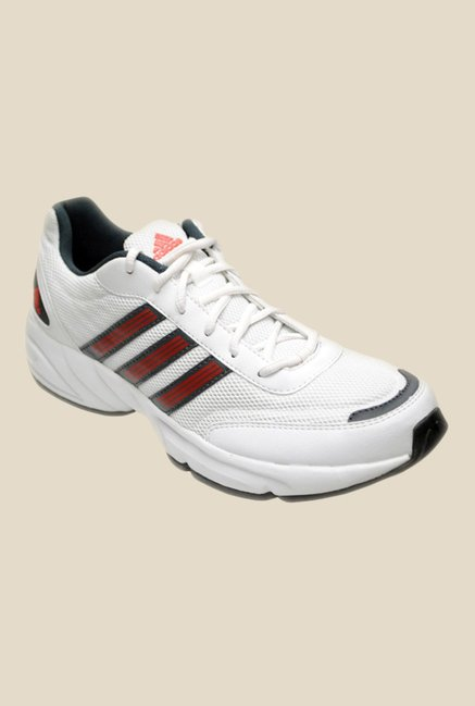 Adidas Alcor White & Red Running Shoes