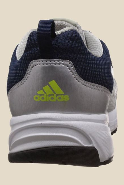 Adidas Adimus Silver & Navy Running Shoes