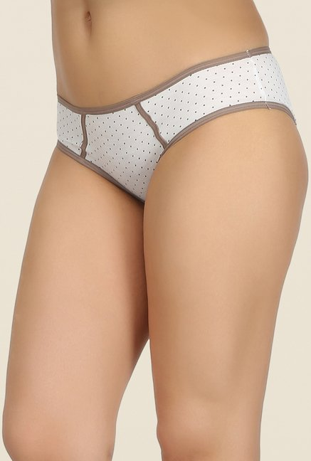 Clovia White, Beige & Black Bikini Panty (Pack of 3)