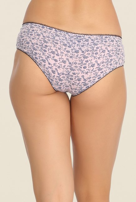 Clovia Navy & Blue Printed Bikini Panty (Pack of 2)