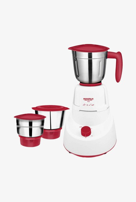 Maharaja Whiteline Livo 500W 3 Jars Mixer Grinder  White/Red