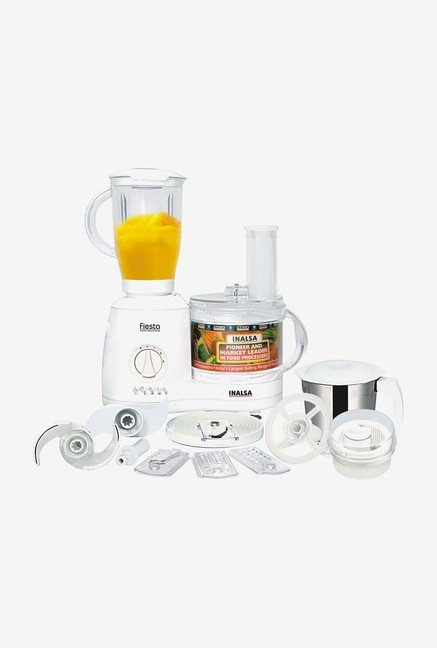 Inalsa Fiesta 650 W Food Processor (White)
