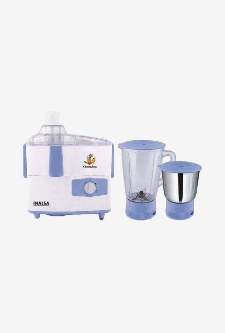 Inalsa Champion Juicer Mixer Grinder (White/Blue)