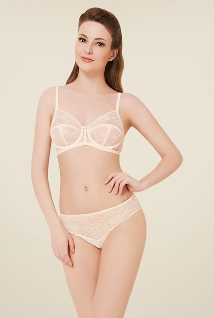Amante Cream Lace Bra