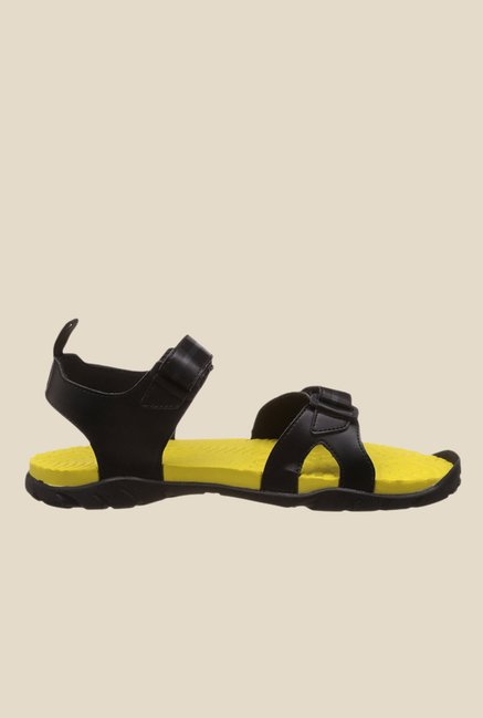 d35045b58c43 Buy Adidas Escape 2.0 Black   Yellow Floater Sandals For Men Online ...