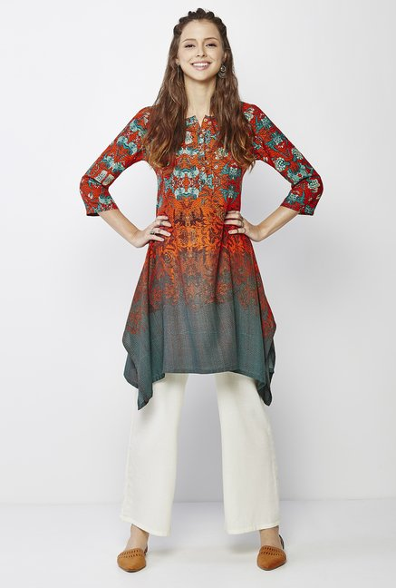 Global Desi Multicolor Floral Print Kurta