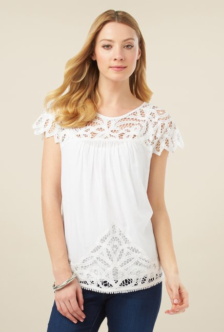 Phase Eight White Lace Blouse