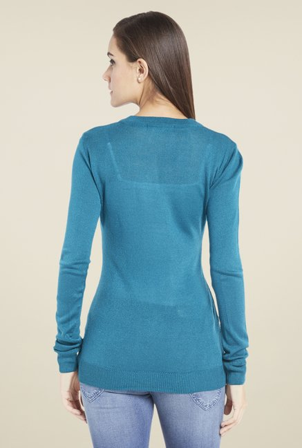 Globus Trendy Teal Solid Pullover