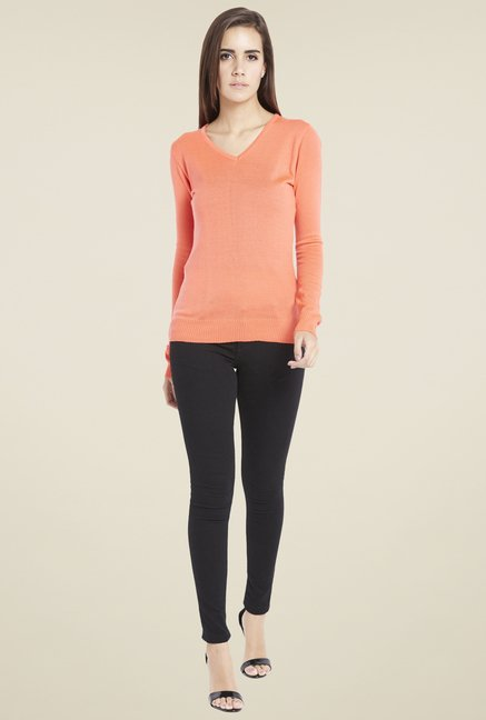 Globus Charming Peach Solid Sweatshirt