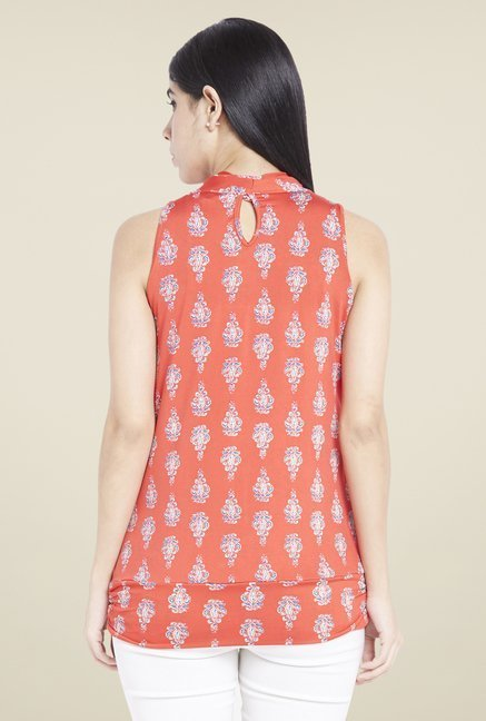 Globus Orange Printed Top