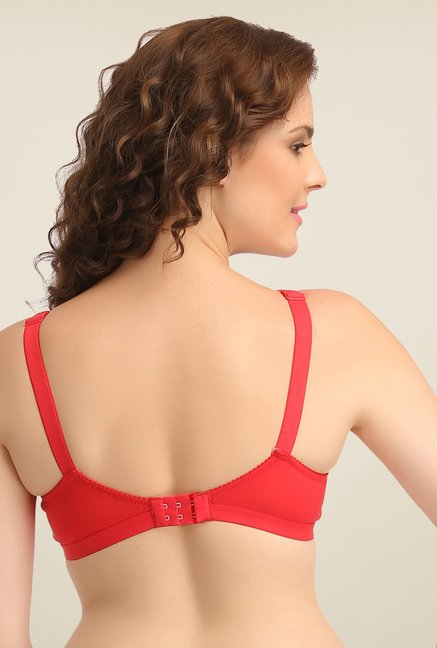 Clovia Red Wirefree Full Cup Bra