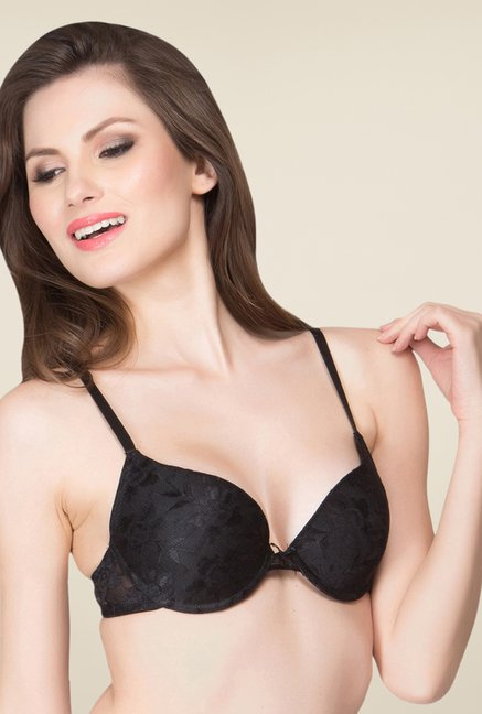 Clovia Black Padded T Shirt Bra