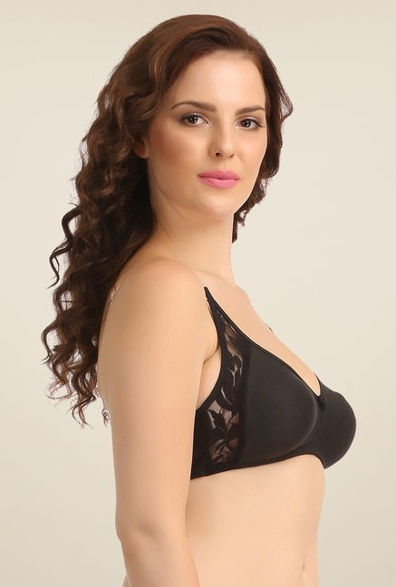 Clovia Black Wirefree T Shirt Bra