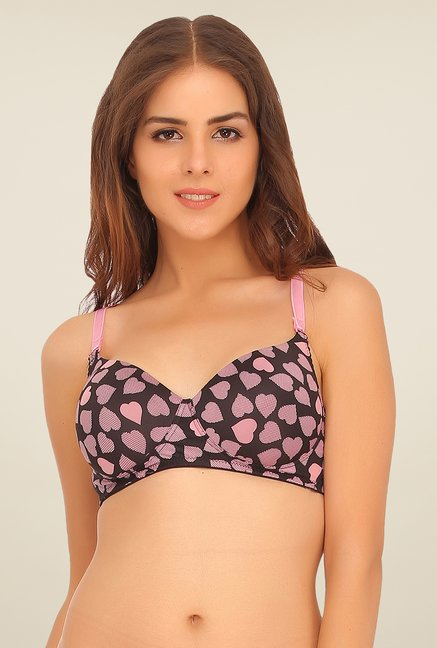Clovia Black Non Wired T Shirt Bra
