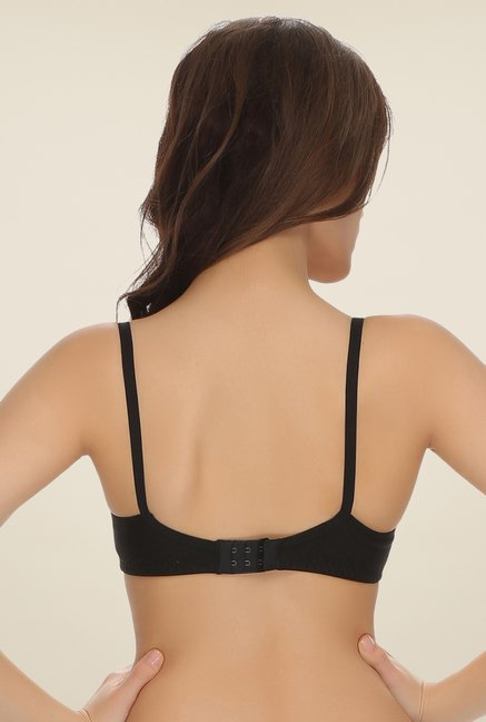 Clovia Black Padded Non Wired T Shirt Bra