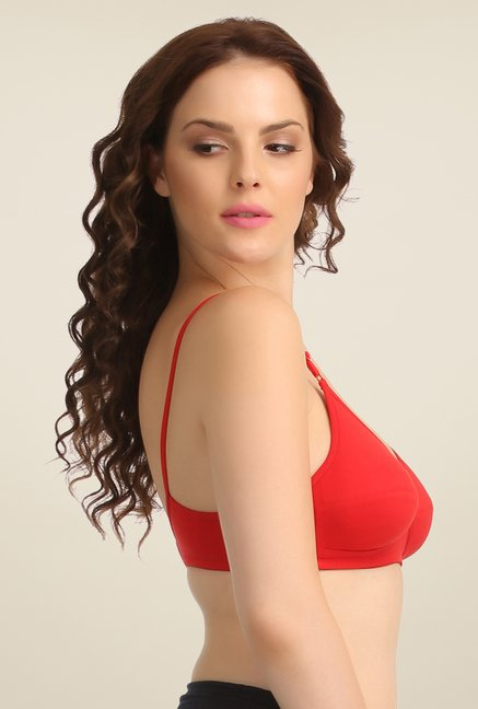 Clovia Red Wirefree Bra