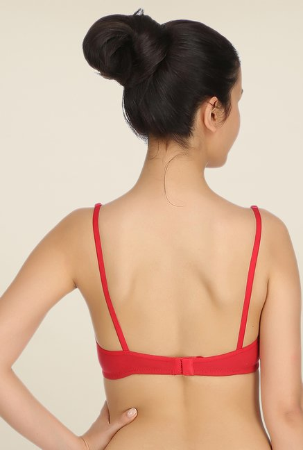 Clovia Red Wirefree T Shirt Bra