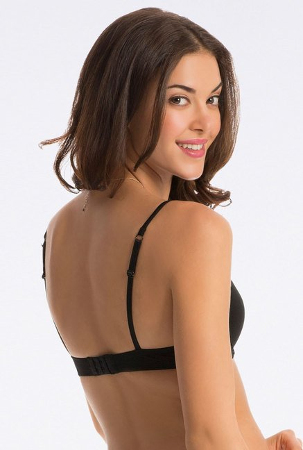 PrettySecrets Flattering Black Push Up T Shirt Bra