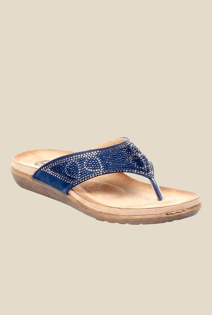 9c4e634a576 Pavers England Navy Thong Sandals Reviews   Ratings - Tata CLiQ
