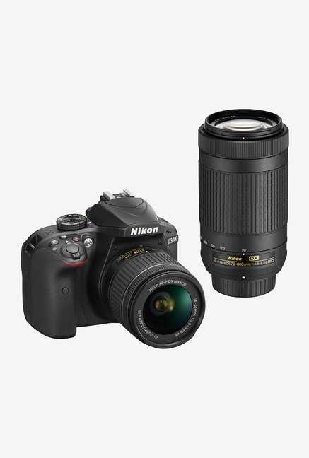 Nikon D3400 with (18-55mm & 70-300mm Lens) DSLR Camera
