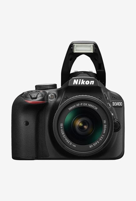Nikon D3400 (18-55 mm & 70-300 mm Lens) DSLR Camera 16GB Card + Camera Bag (Black)