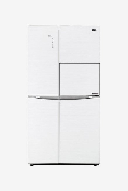 LG 675 Ltr Frost Free Side by Side Refrigerator  Aria White , GC C247UGUV