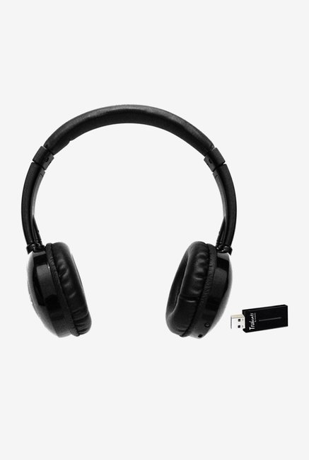 Amkette Trubeats 261BK On the Ear Headphones (Black)