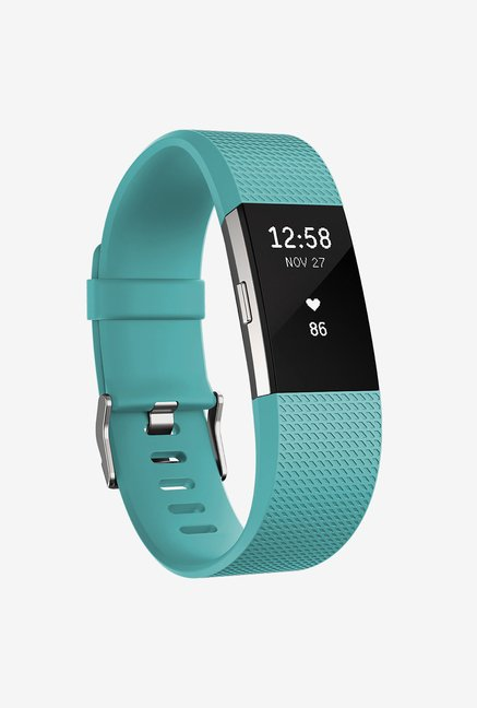 Fitbit Charge 2 Large Activity Wristband (Teal/Silver)