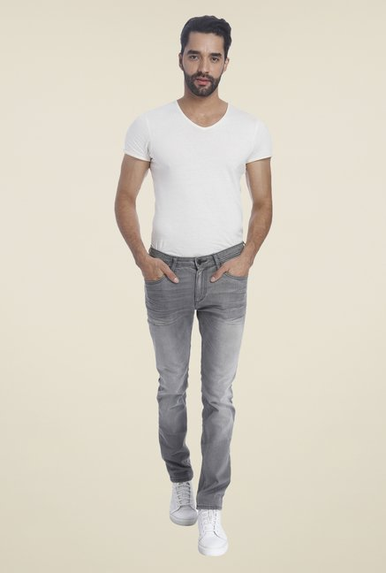 Jack & Jones Grey Skinny Fit Jeans