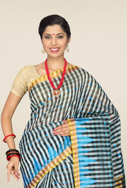 Pavecha's Multicolor Banarasi Cotton Silk Saree