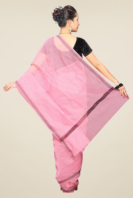 Pavecha's Pink Cotton Silk Saree