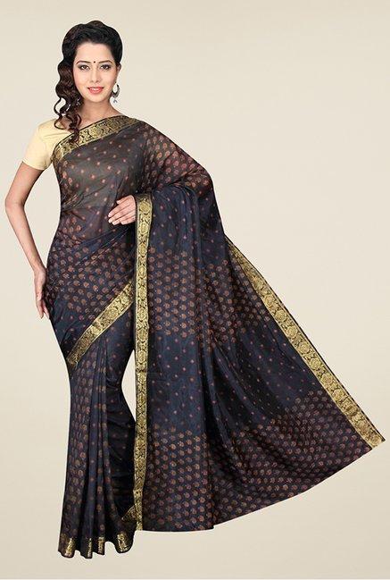 b083e4bf6f5500 Buy Pavecha's Black Chiffon Printed Bandhej Saree For Women Online At Tata  CLiQ