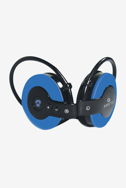 Amkette 700BL On the Ear Bluetooth Headphones (Blue)