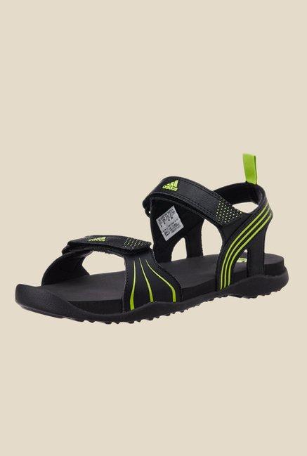7519decc6 Buy Adidas Hewis Black   Green Floater Sandals For Men Online At Tata CLiQ