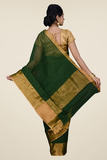 Pavecha's Green Venakatagiri Cotton Saree