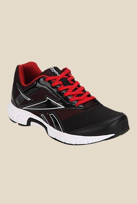 reebok running shoes red and black. reebok cruise runner 2.0 black \u0026 red running shoes and