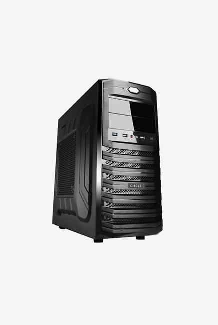 Buy Circle CC 815 Computer Cabinet Without SMPS (Black) Online at ...