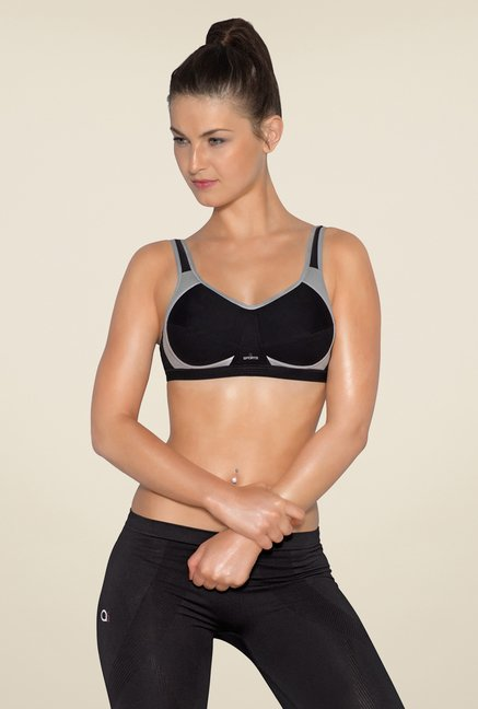 Amante Black Non Padded Sports Bra