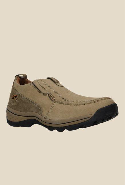 cad757418a Buy Woodland Khaki Casual Slip-Ons For Men Online At Tata CLiQ