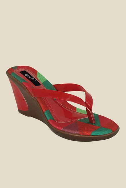 29d92038a7a Buy Gisole Laura Red Wedge Heeled Thong Sandals For Women Online At Tata  CLiQ