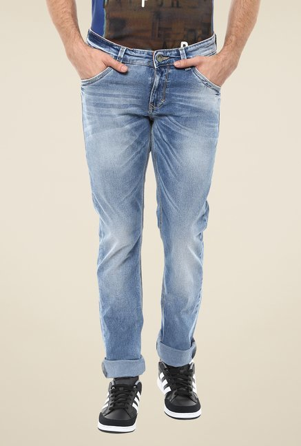 Spykar Light Blue Skinny-fit Jeans