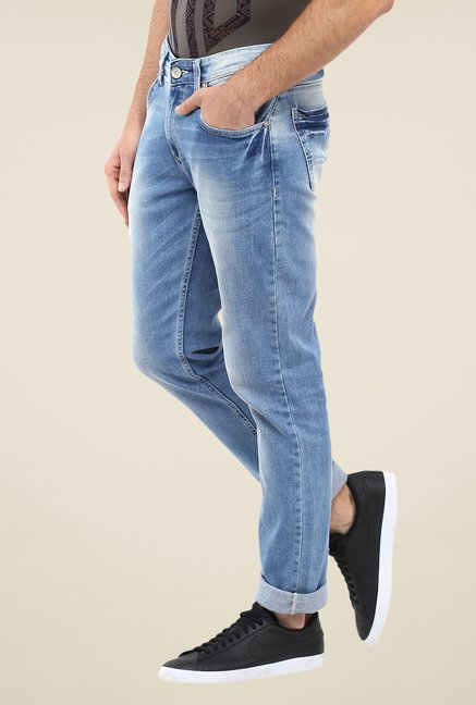 Spykar Blue Acid Wash Jeans