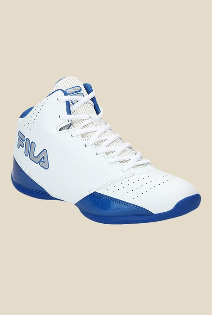 6ed5625ad473 Buy Fila Reversal White   Blue Basketball Shoes For Men Online At Tata CLiQ